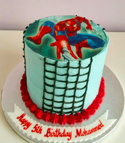 Spider-Man Themed Cake - Printed Picture 01