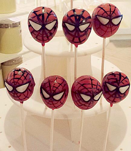 Spider-Man Themed Cake Pops 01