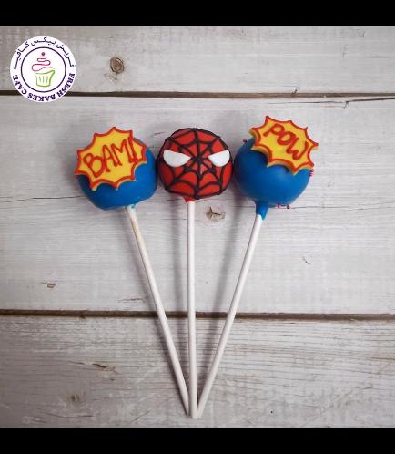 Spider-Man Themed Cake Pops 04