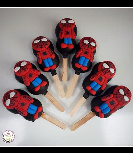Spider-Man Themed Popsicakes