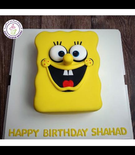 SpongeBob SquarePants Themed Cake - SpongeBob SquarePants - 2D Cake