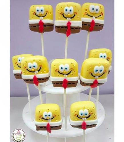 SpongeBob SquarePants Themed Cake Pops 02