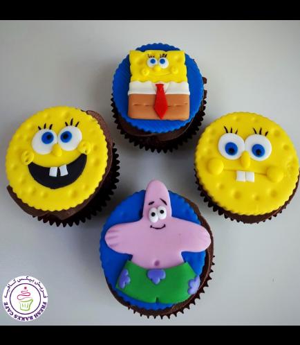 SpongeBob SquarePants Themed Cupcakes
