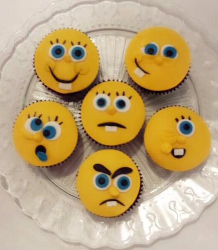 SpongeBob SquarePants Themed Cupcakes 1