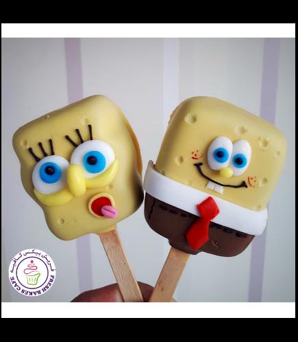 SpongeBob SquarePants Themed Popsicakes