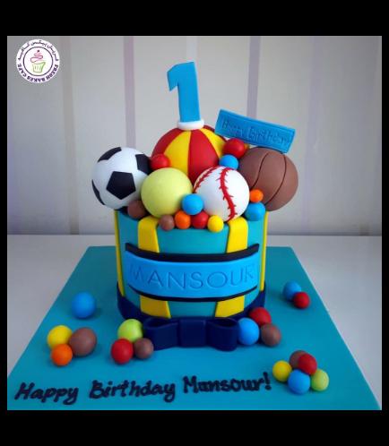 Sports Balls Themed Cake