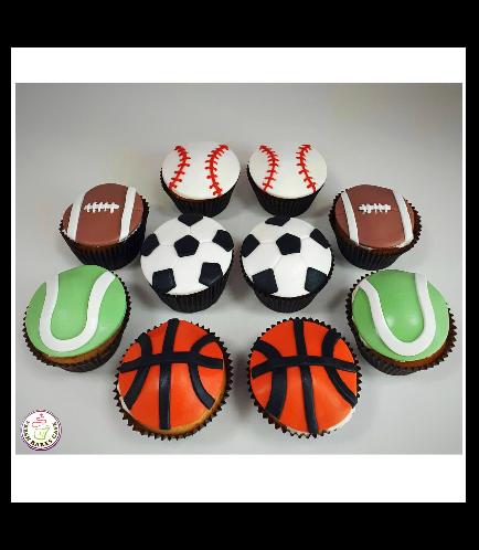 Sports Balls Themed Cupcakes 02