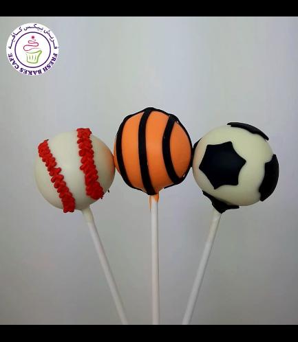 Sports Balls Themed Cake Pops