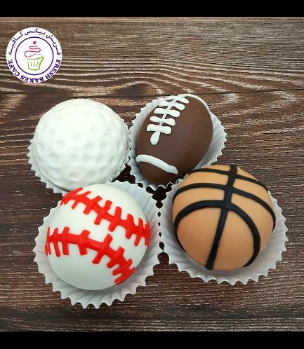 Sports Balls Themed Cake Pops w/o Sticks