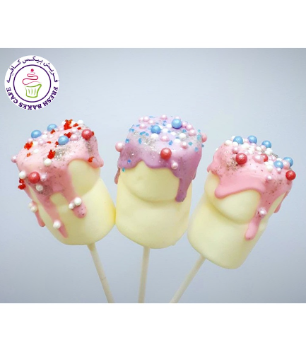 Drizzle & Sprinkles Marshmallow Pops