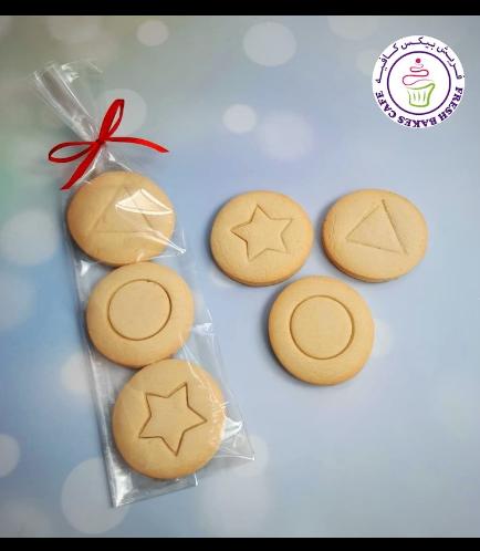 Squid Game Themed Cookies - Dalgona Sugar Cookies