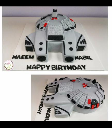 Cake - Millenium Falcon 3D Cake 01