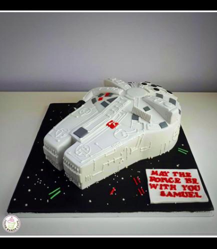 Cake - Millenium Falcon 3D Cake 03a