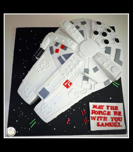 Cake - Millenium Falcon 3D Cake 03b