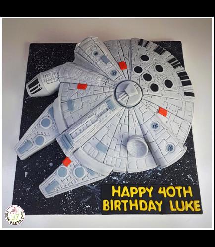 Cake - Millenium Falcon 3D Cake 02b