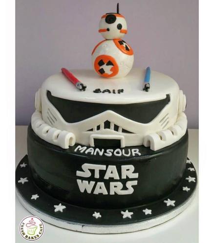Cake - BB-8 Robot 3D Cake Topper - 2 Tier