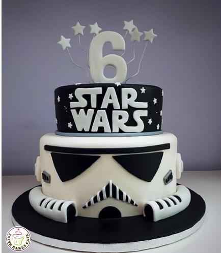 Cake - Stormtrooper 2D - 2 Tier Cake 01