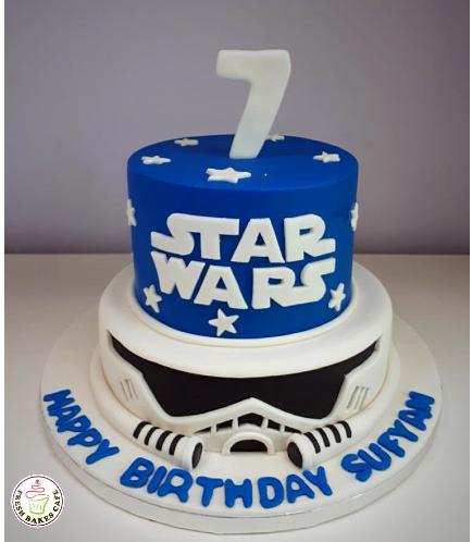 Cake - Stormtrooper 2D - 2 Tier Cake 02