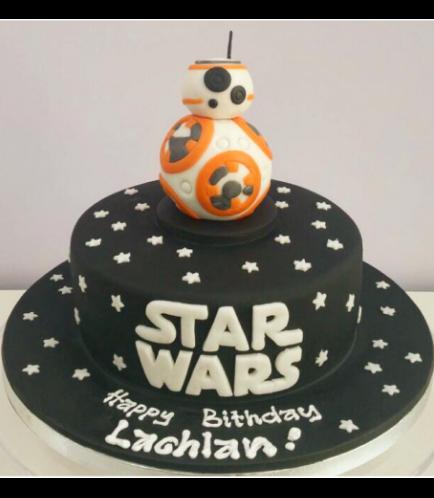 Cake - BB-8 Robot 3D Cake Topper - 1 Tier