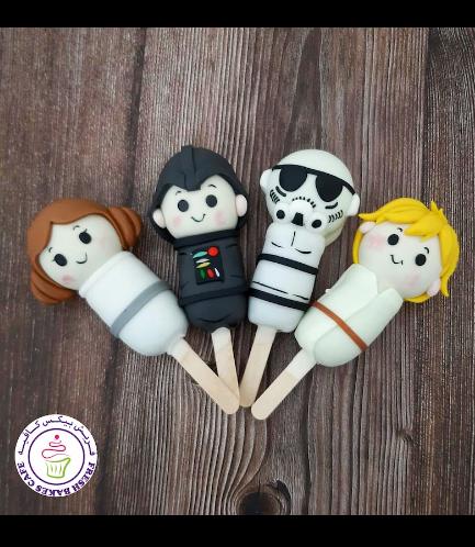 Star Wars Themed Popsicakes