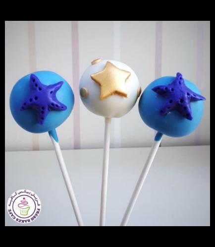 Starfish & Star Themed Cake Pops