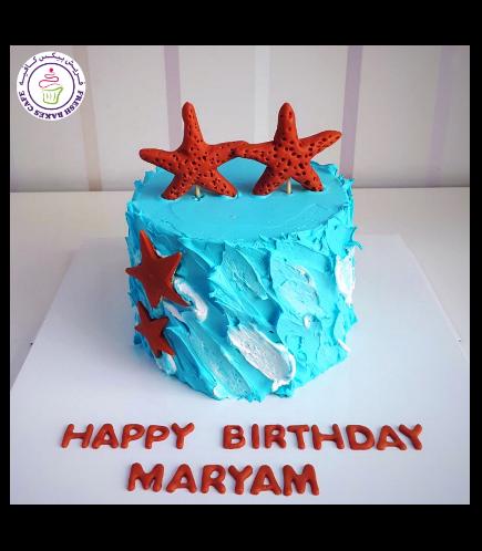 Starfish Themed Cake