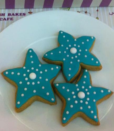 Starfish Themed Cookies