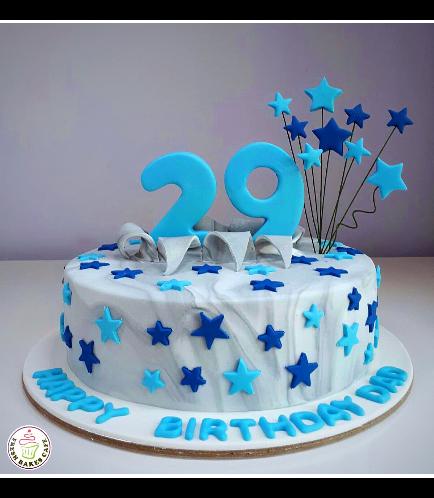 Cake - Stars on Sticks - 1 Tier 04