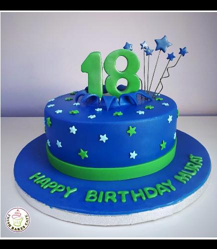 Cake - Stars on Sticks - 1 Tier 05a
