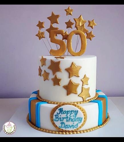 Cake - Stars on Sticks - 2 Tier 03