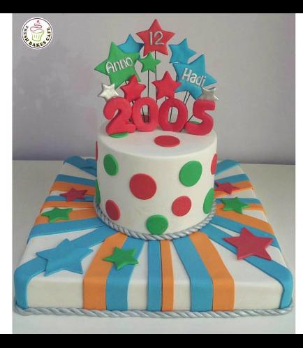 Cake - Stars on Sticks - 2 Tier 02