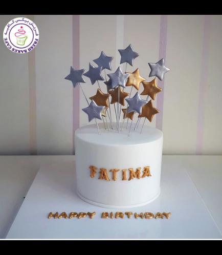 Cake - Stars on Sticks - 1 Tier 03b