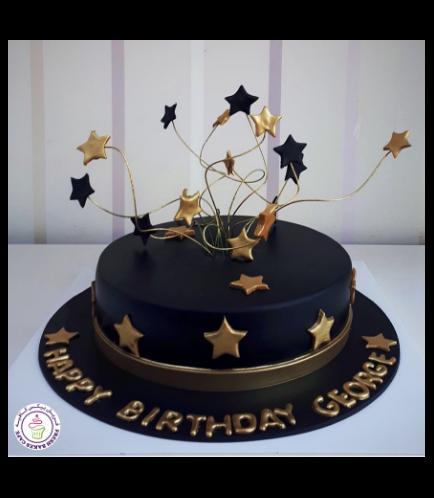 Cake - Stars on Sticks - 1 Tier 06