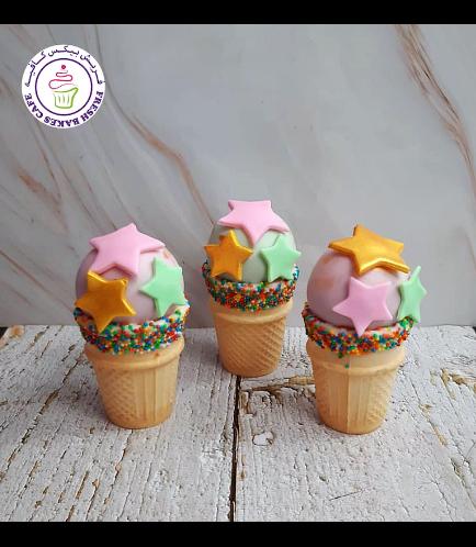 Stars Themed Cone Cake Pops