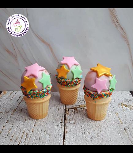 Cone Cake Pops - Stars