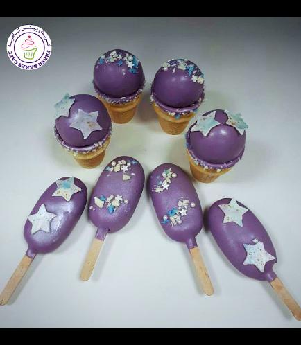 Stars Themed Cone Cake Pops & Popsicakes