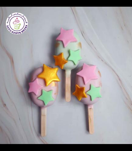 Stars Themed Popsicakes
