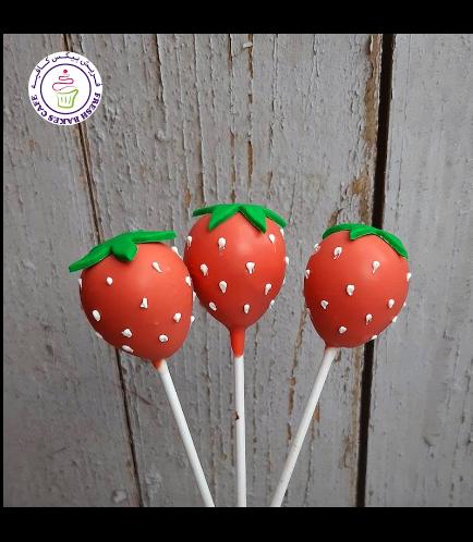 Strawberry Themed Cake Pops