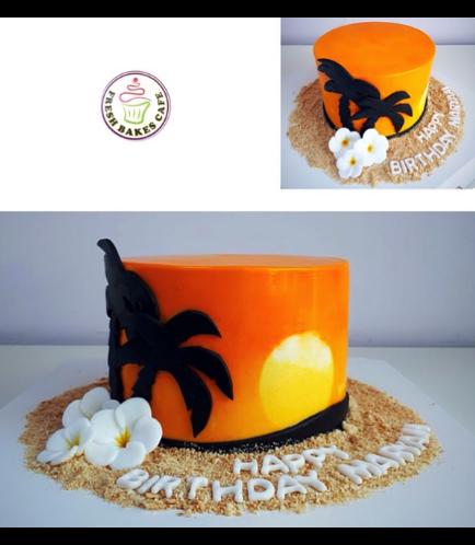 Sunset Themed Cake 01