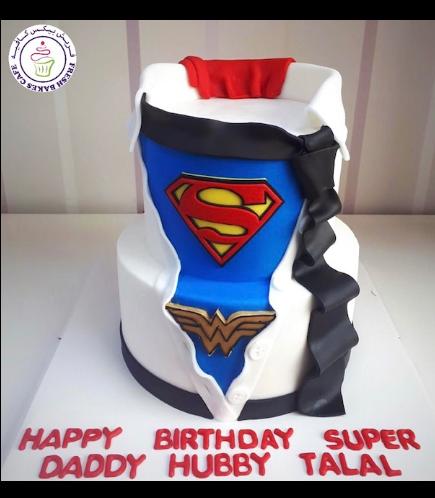 Cake - Shirt & Tie - Super Dad - 2 Tier