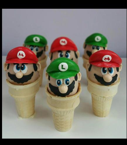 Super Mario Themed Cone Cake Pops