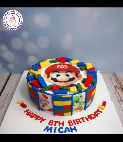 LEGO Super Mario Themed Cake