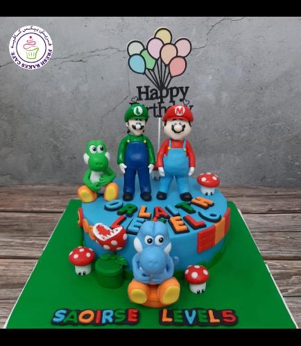 Cake - Super Mario, Luigi, & Yoshi - 3D Cake Toppers.