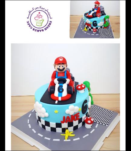 Cake - Super Mario's Kart - 3D Cake Topper