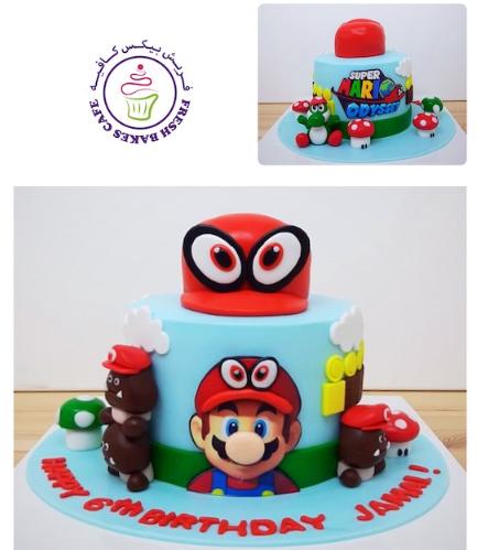 Cake - Super Mario Cap - 3D Cake Topper