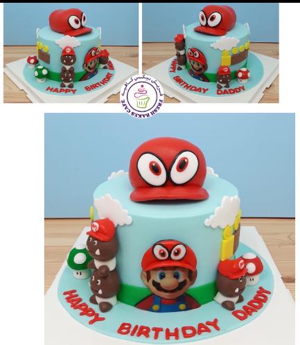 Cake - Super Mario's Cap - 3D Cake Topper