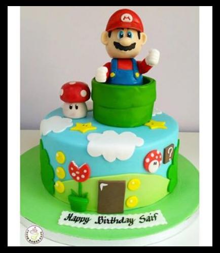 Super Mario Themed Cake 05