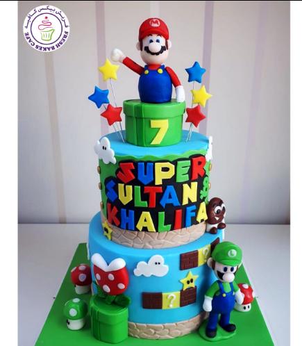 Super Mario Themed Cake 08