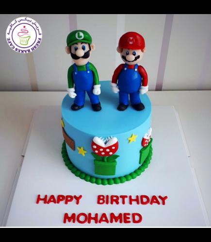 Cake - Super Mario & Luigi - 3D Cake Toppers 01