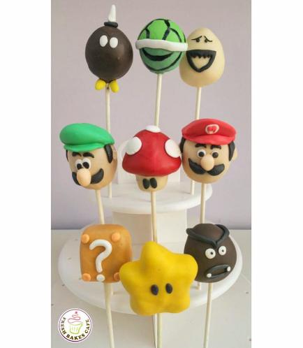 Super Mario Themed Cake Pops